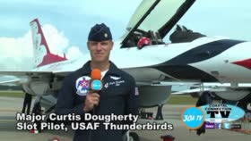 Major Curtis Dougherty USAF Thunderbirds Air Show