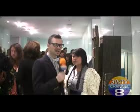 Richard Lowe talks to Kristy  Mercedes Benz Fashion Week