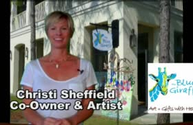 Business Spotlight : Blue Giraffe Art Gallery in Watercolor