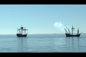 Nina and Pinta arrive in Pensacola