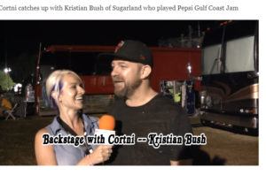 Backstage With Cortni – Pepsi Gulf Coast Jam Kristian Bush