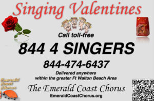 Singing Valentine by the Emerald Coast Chorus