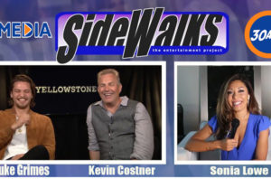 Sidewalks TV  host Sonia Lowe interviews Luke Grimes and Kevin Costner