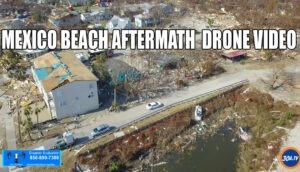 Mexico Beach Aftermath Flyover Drone Video