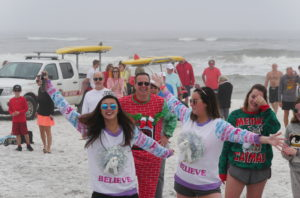 Polar Plunge South Walton Fire Department New Year's Day