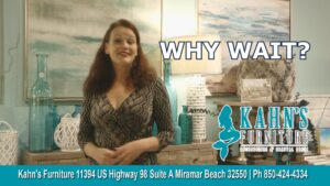 Kahns Furniture Miramar Beach – Beautiful Brand Name Furniture, Accessories and Art – Without the Wait !