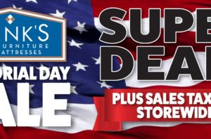 SALES TAX PAID STOREWIDE  during Hank's Memorial Day Sale!