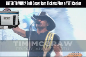 Enter to Win 2 Tickets to Pepsi Gulf Coast Jam along with a Yeti Flip 18 Cooler