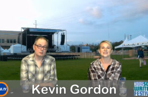 Backstage with Cortni at 30A Songwriters with Kevin Gordon