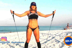 Fitness on the beach with Edna — Pt 3