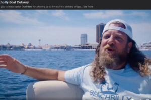BeachBilly Lifestyle Delivers Product BY BOAT