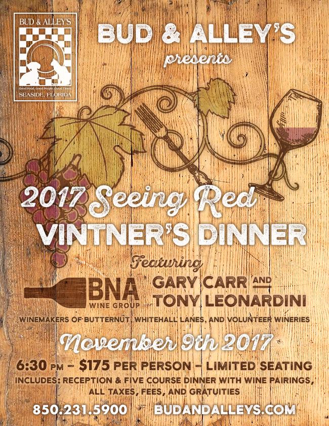 27th ANNUAL SEEING RED  VINTNER DINNER