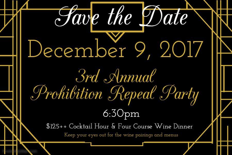 Third Annual Prohibition Wine Dinner #30atv