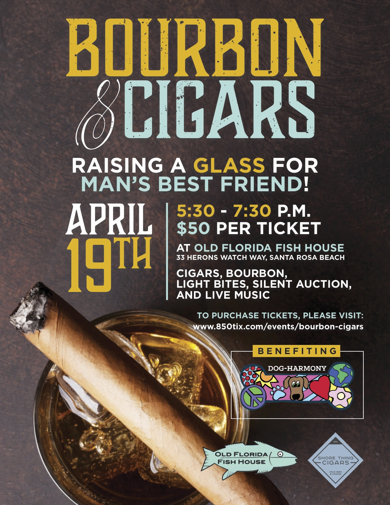 Bourbon & Cigars Event to Benefit Dog-Harmony