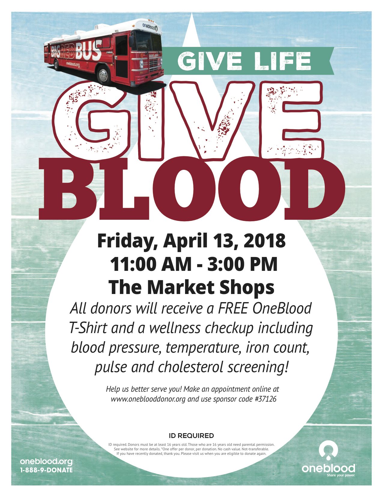 The Market Shops to Host OneBlood Drive