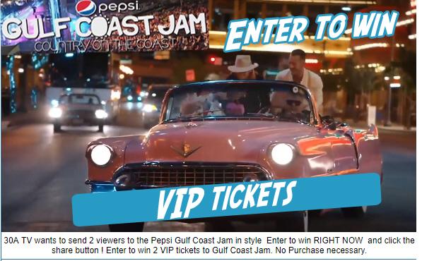Enter to Win VIP Tickets Pepsi Gulf Coast Jam