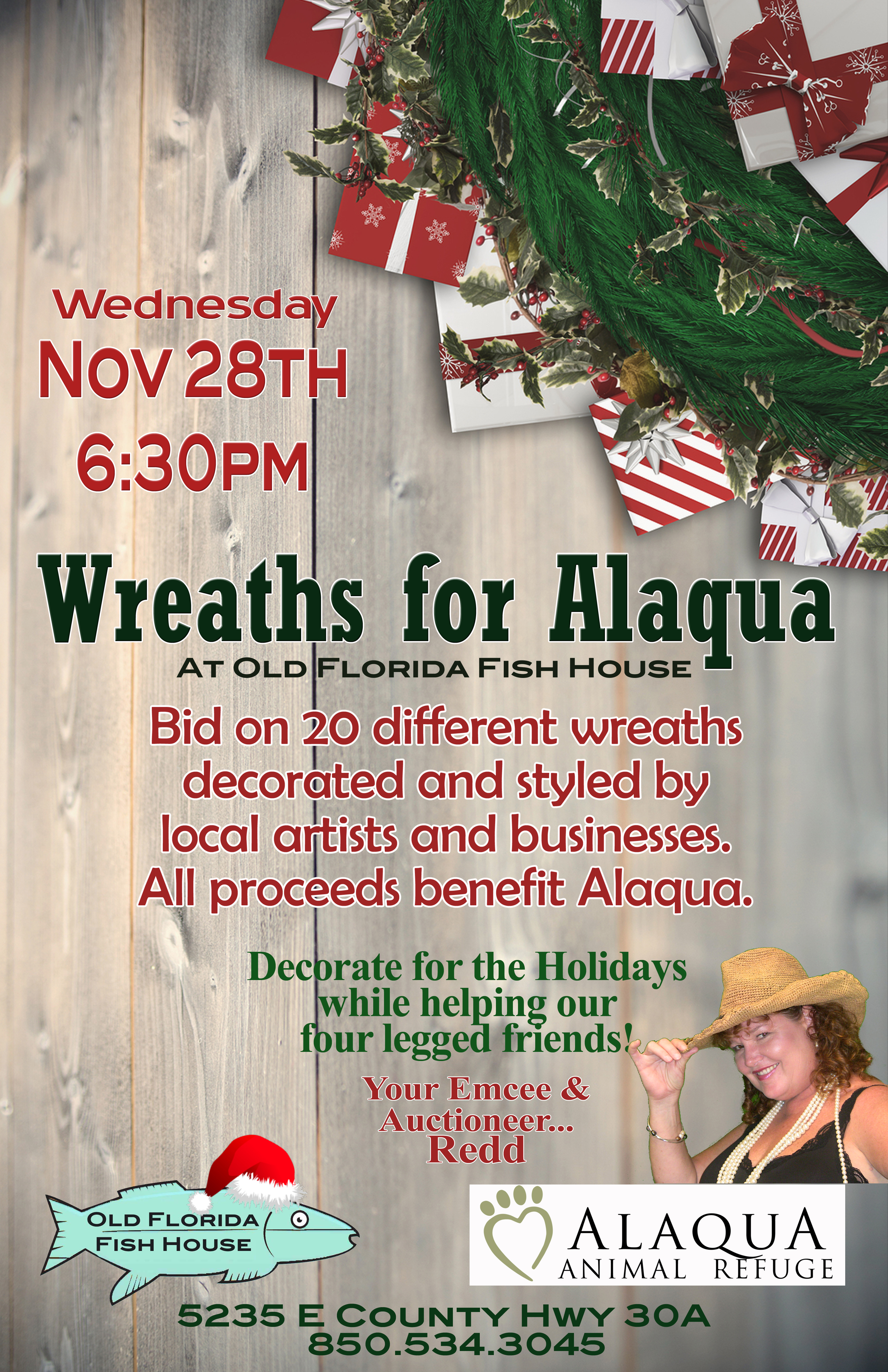 Old Florida Fish House Announces Fifth Annual Wreaths for Alaqua