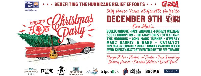 Karuna 30a Brings Holiday Cheer with Hurricane Relief Benefit
