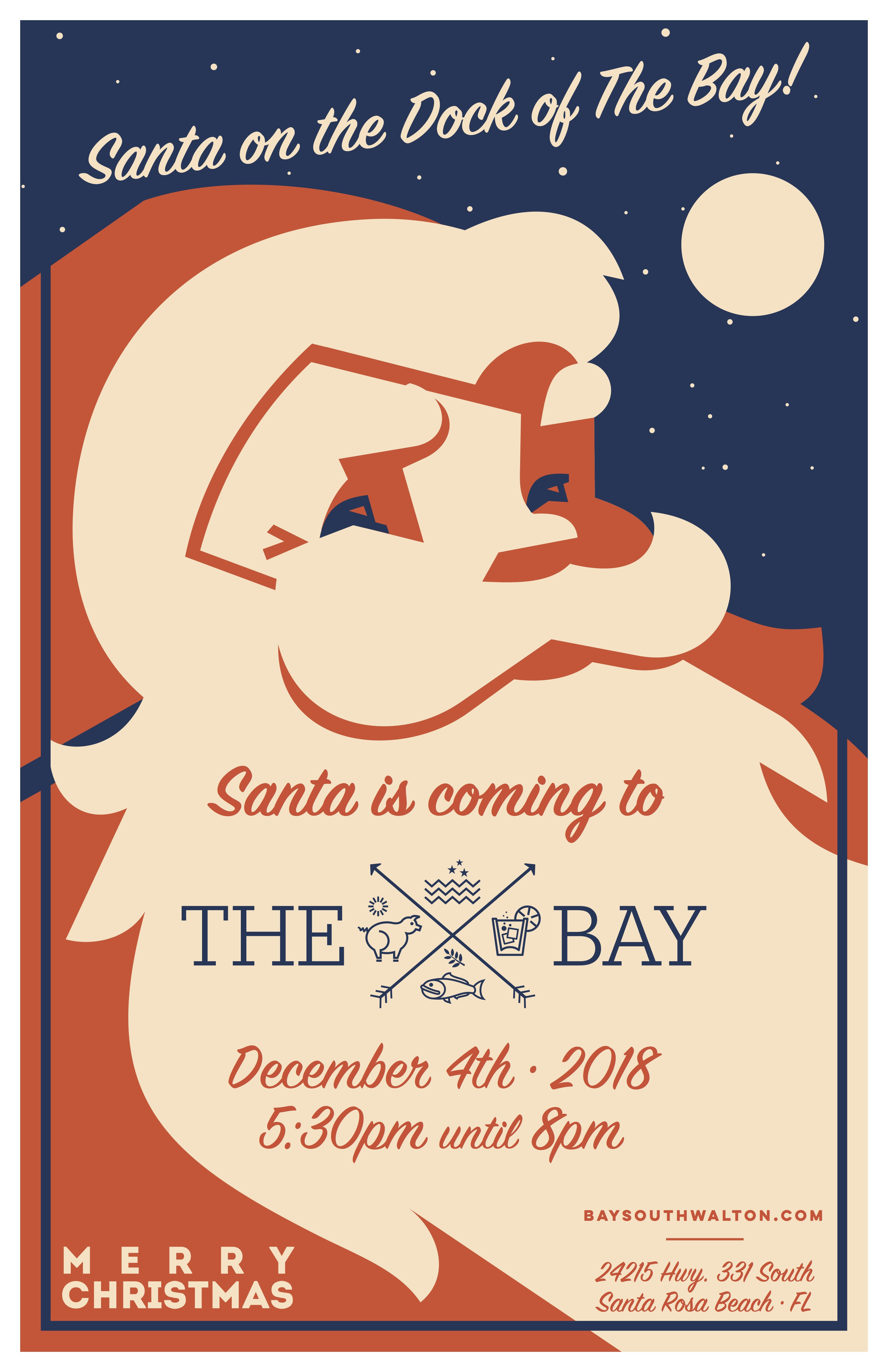 Santa on the Dock of the The Bay