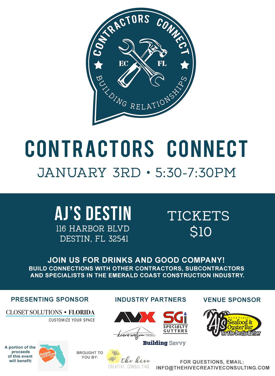 Contractors Connect kicks off 2019 with meetup benefiting HOPE Panhandle