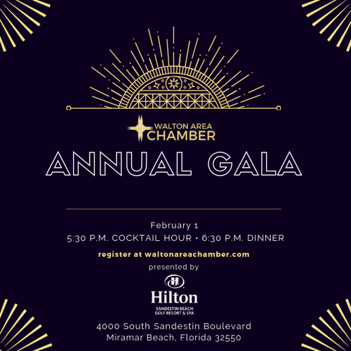 Walton Area Chamber of Commerce to Host 2019Annual Gala