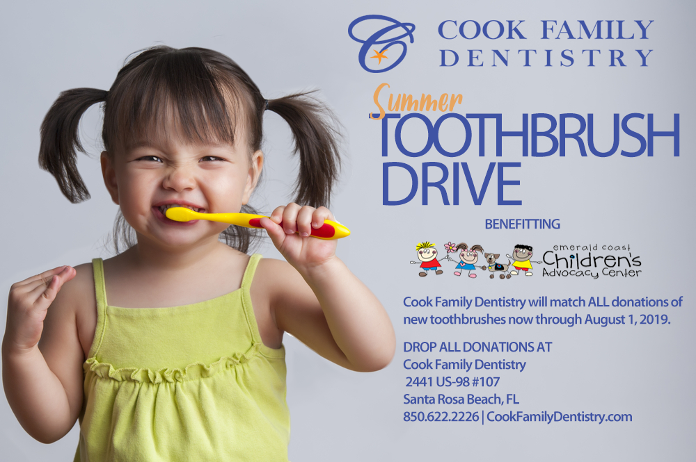 Cook Family Dentistry hosts Toothbrush Drive for Emerald Coast Children's Advocacy Center