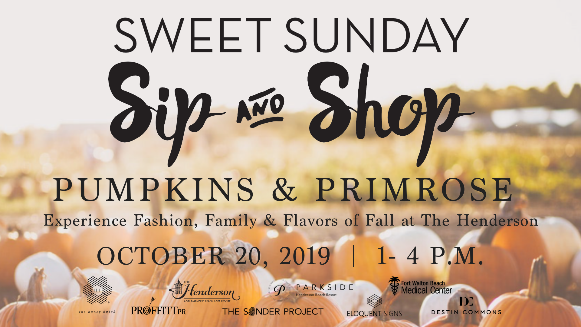 The Henderson Announces Third Sweet Sunday Event Showcasing Destins Newest Pumpkin Patch