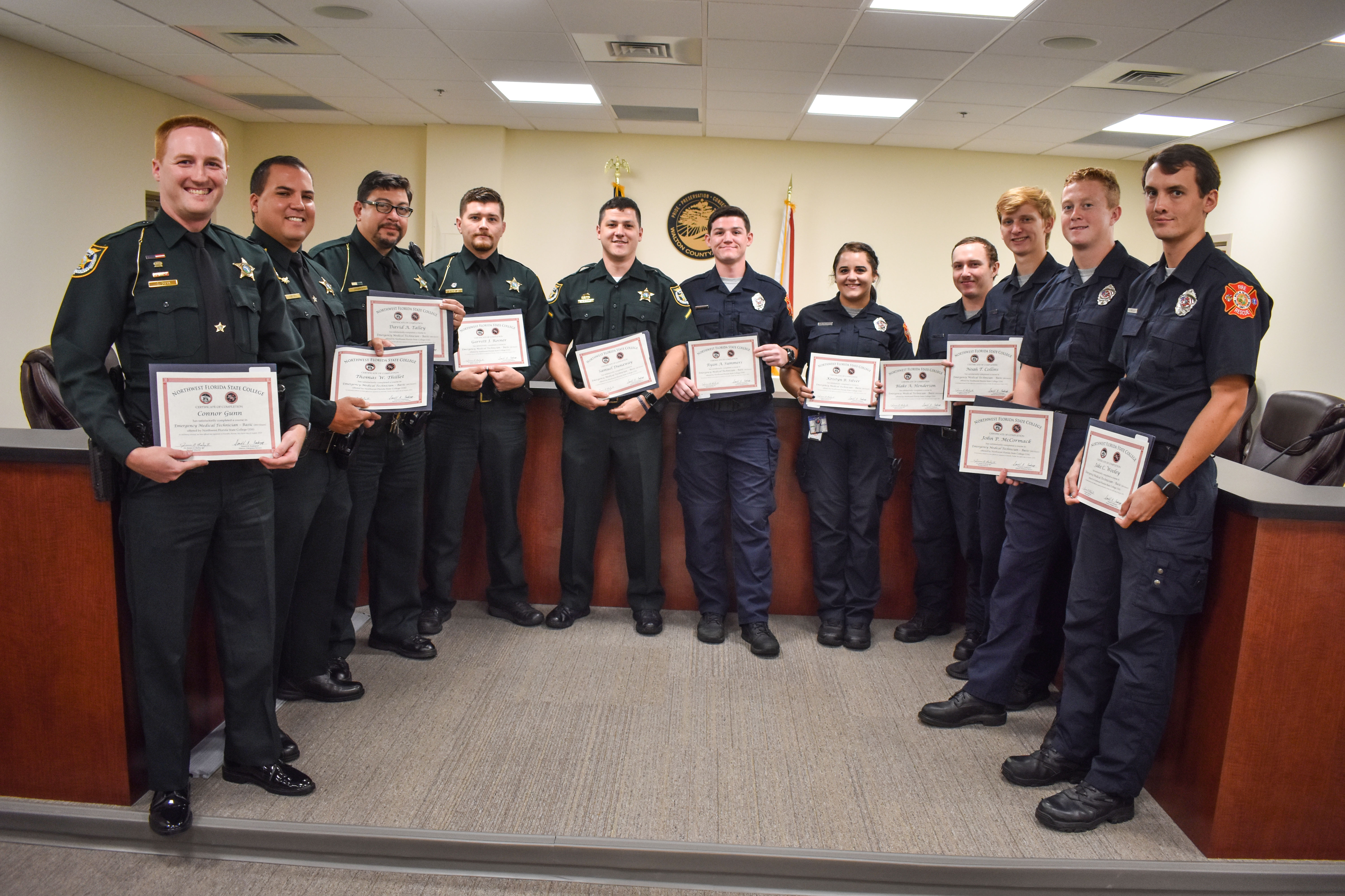 WCSO DEPUTIES AND FIREFIGHTERS GRADUATE FROM EMT SCHOOL