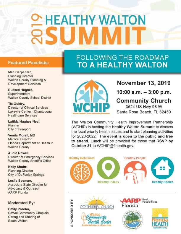 COMMUNITY MEETS TO MAKE WALTON COUNTY A HEALTHIER PLACE TO LIVE