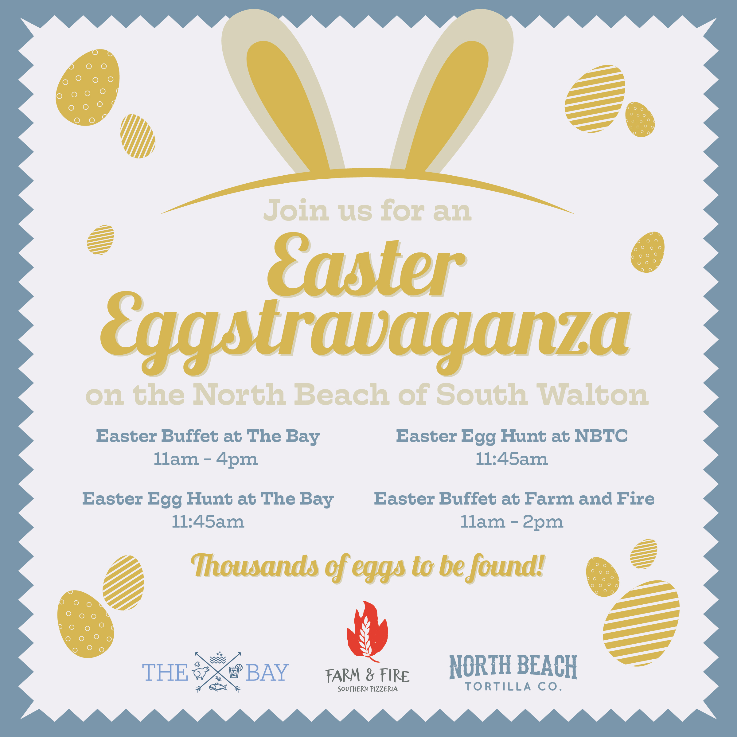 Easter Eggstravaganza on the North Beach of South Walton