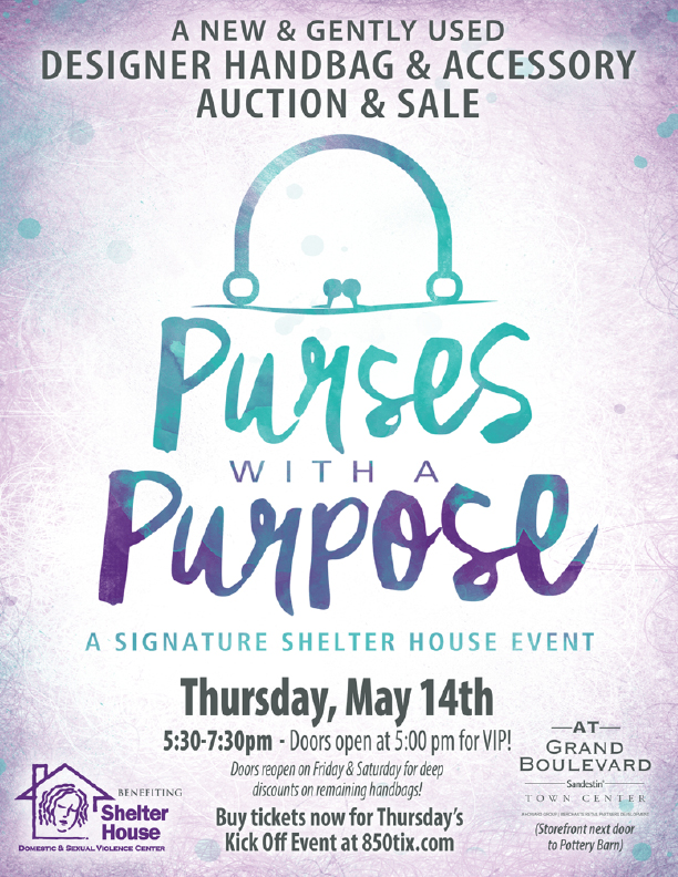 Shelter House hosts 10th Annual Purses with a Purpose May 14-16