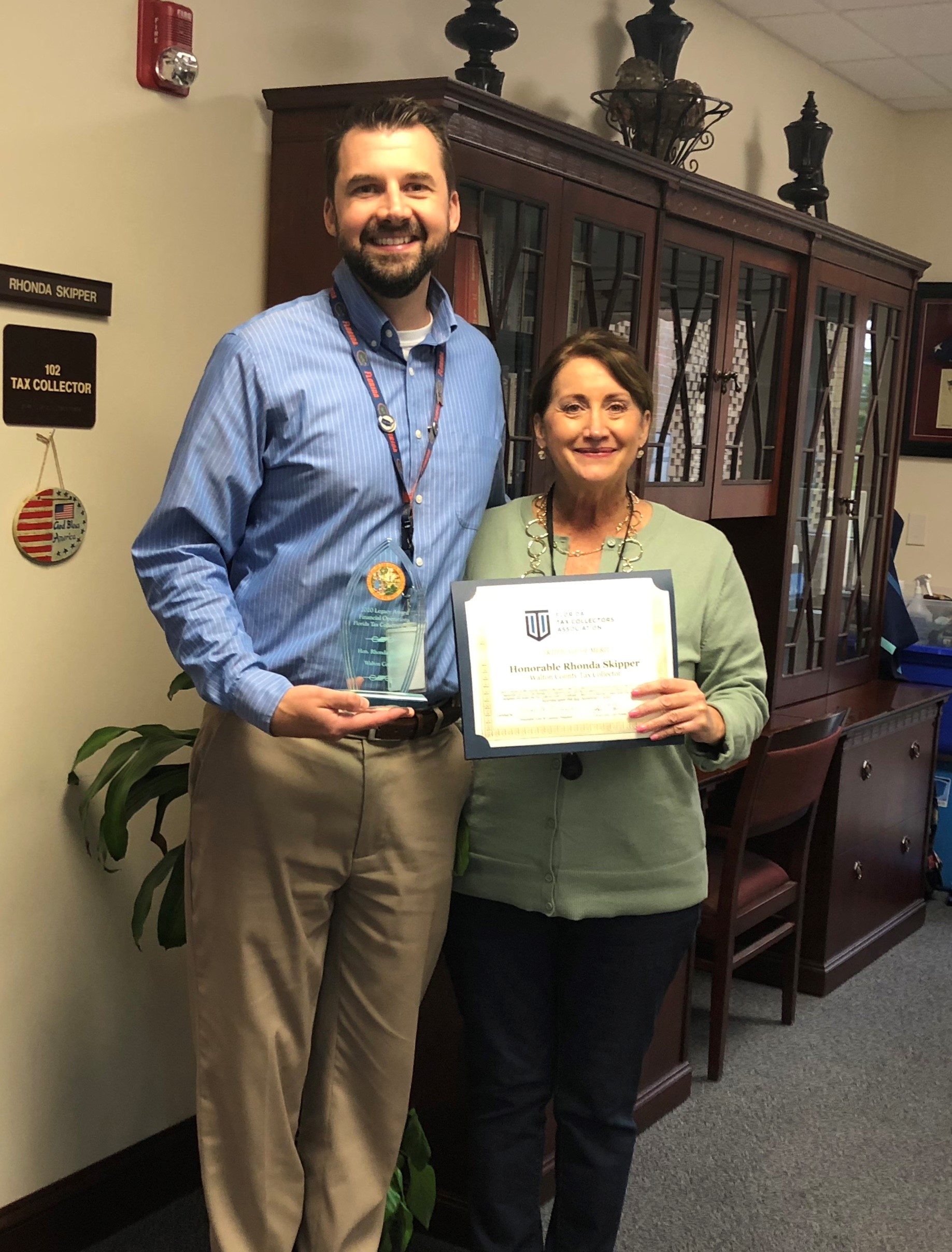 WALTON COUNTY TAX COLLECTOR RECIEVES LEGACY AWARD AND FIRST VICE PRESIDENT DESIGNATION