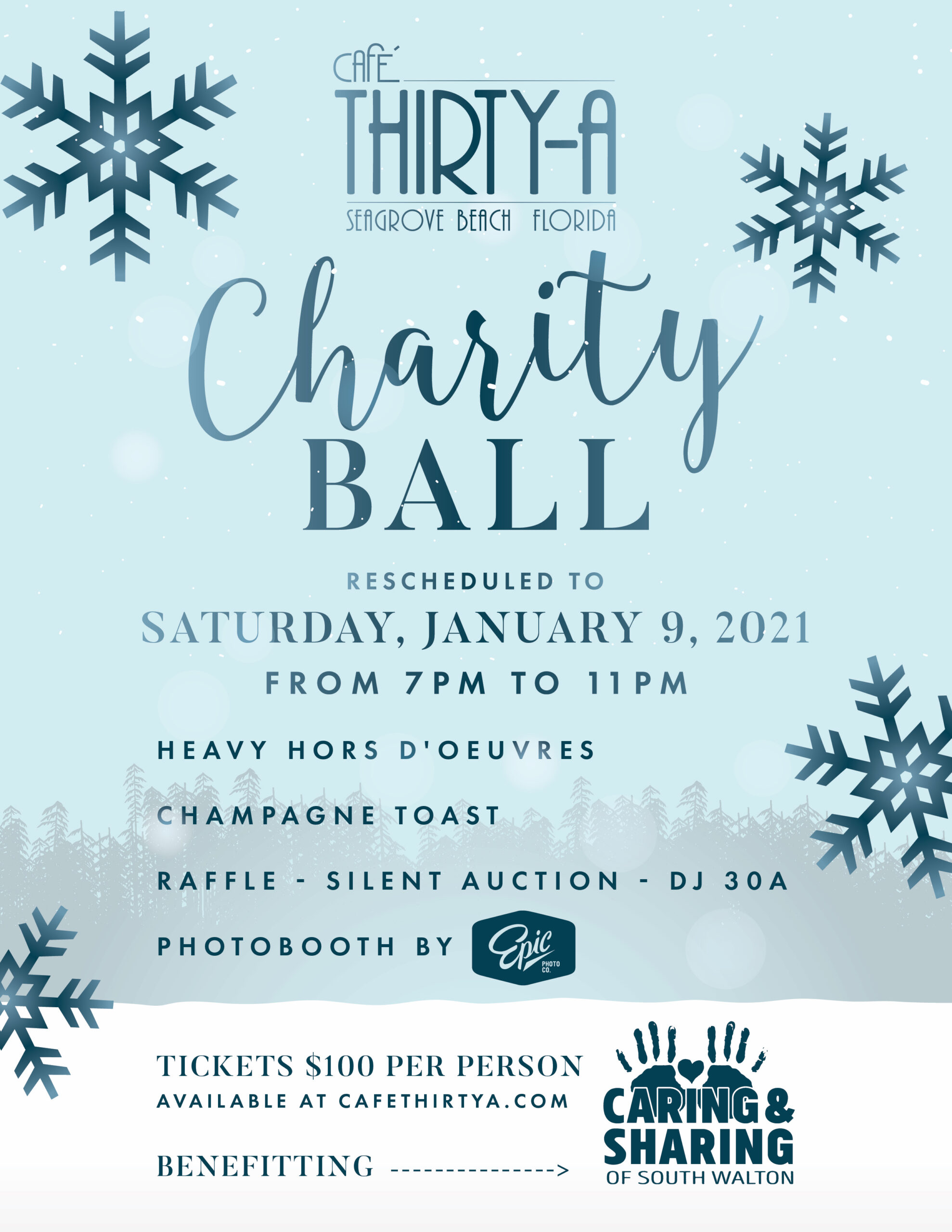 Café Thirty-A Reschedules Annual Christmas Charity Ball