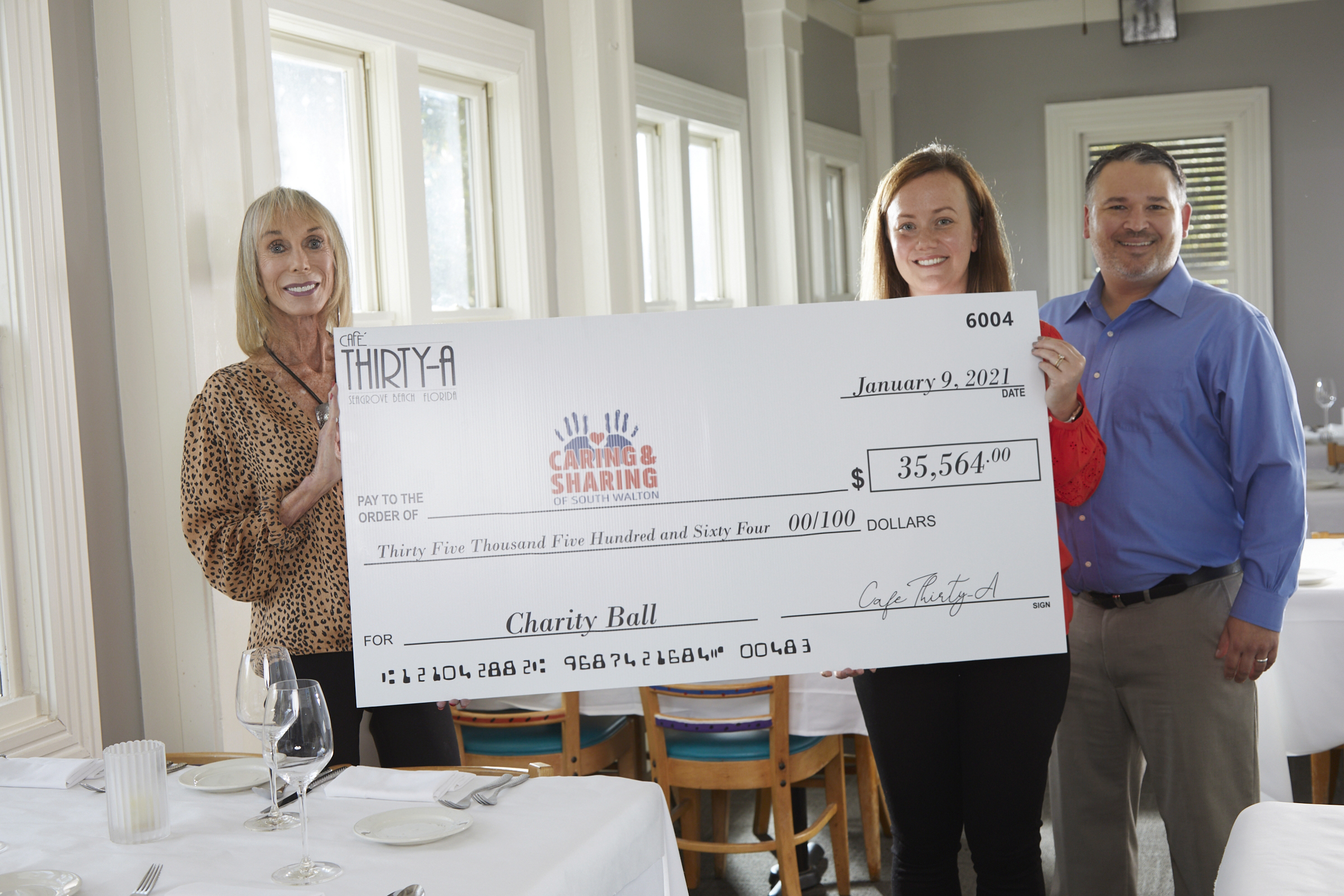 Café Thirty-A Raises Record-Breaking $35,564 for Caring and Sharing of South Walton