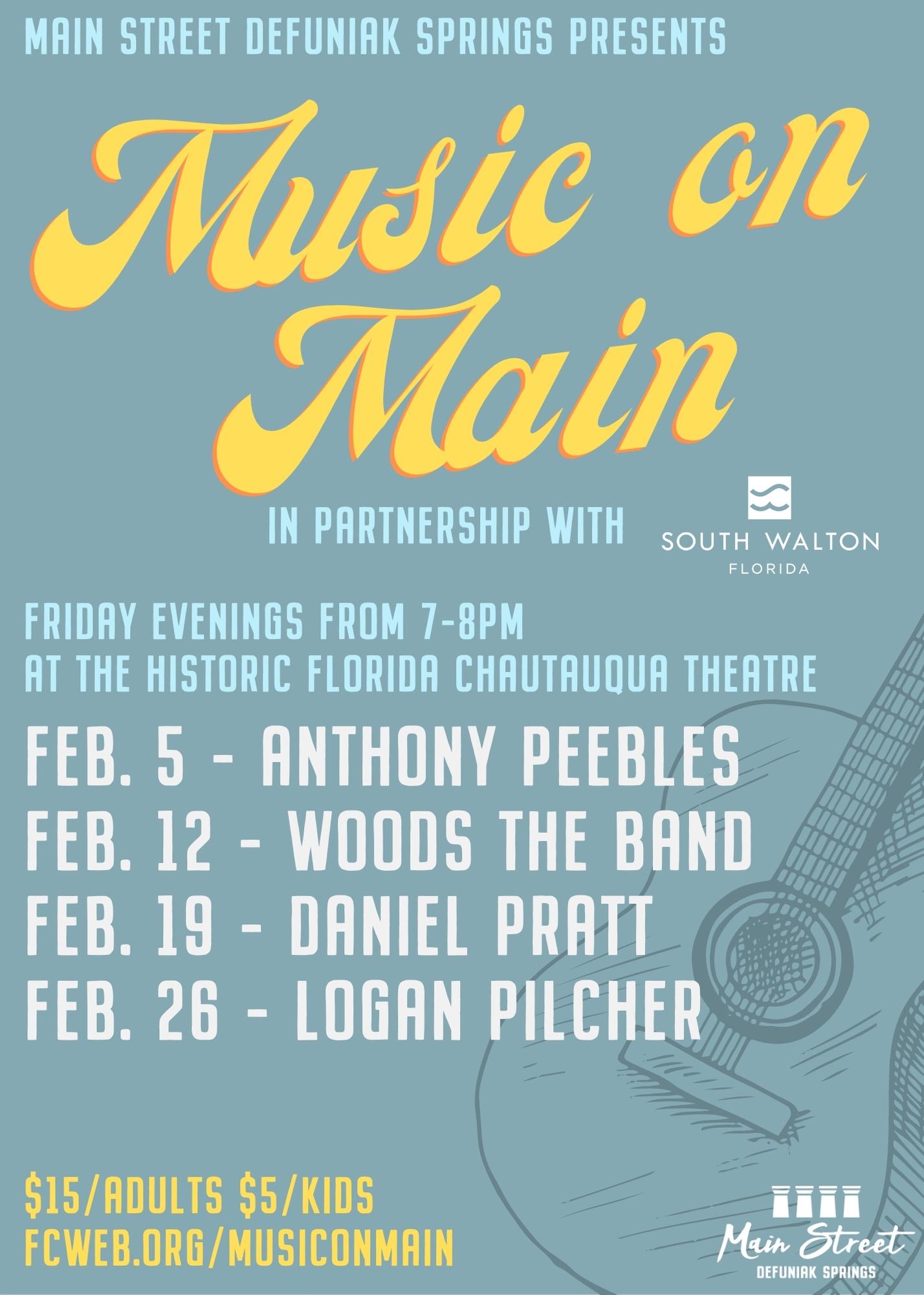 "Main Street DeFuniak Springs Hosts ""Music on Main"""