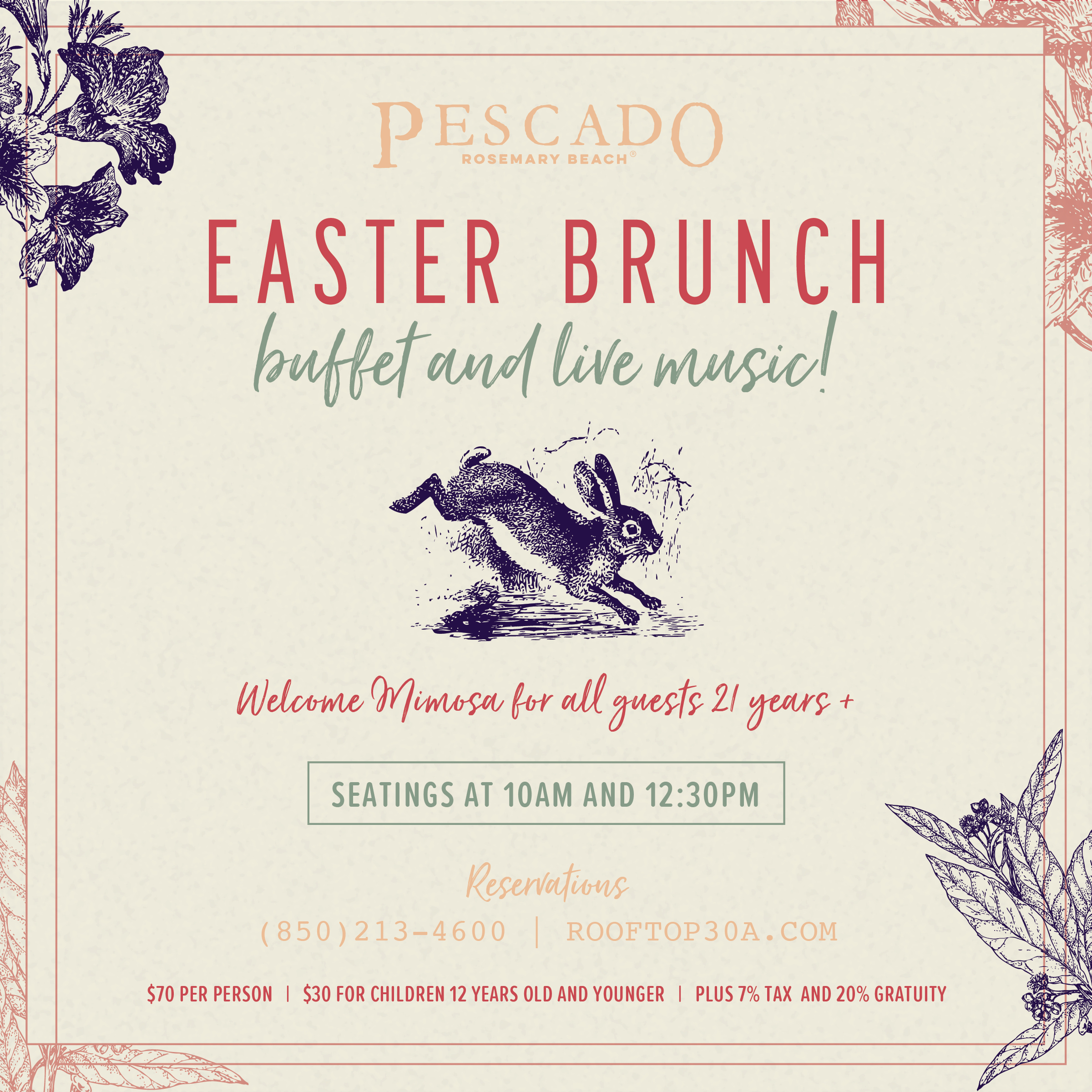 Easter Brunch at Pescado in Rosemary Beach