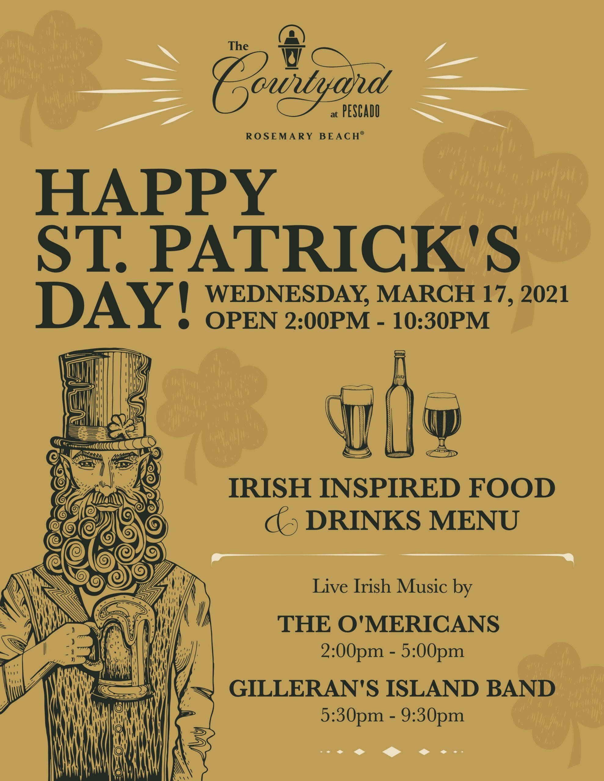 The Courtyard at Pescado Hosts St. Patrick's Day Soiree