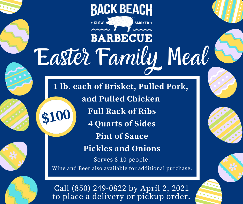 Back Beach Barbecue to Offer Family Meals for Easter Sunday