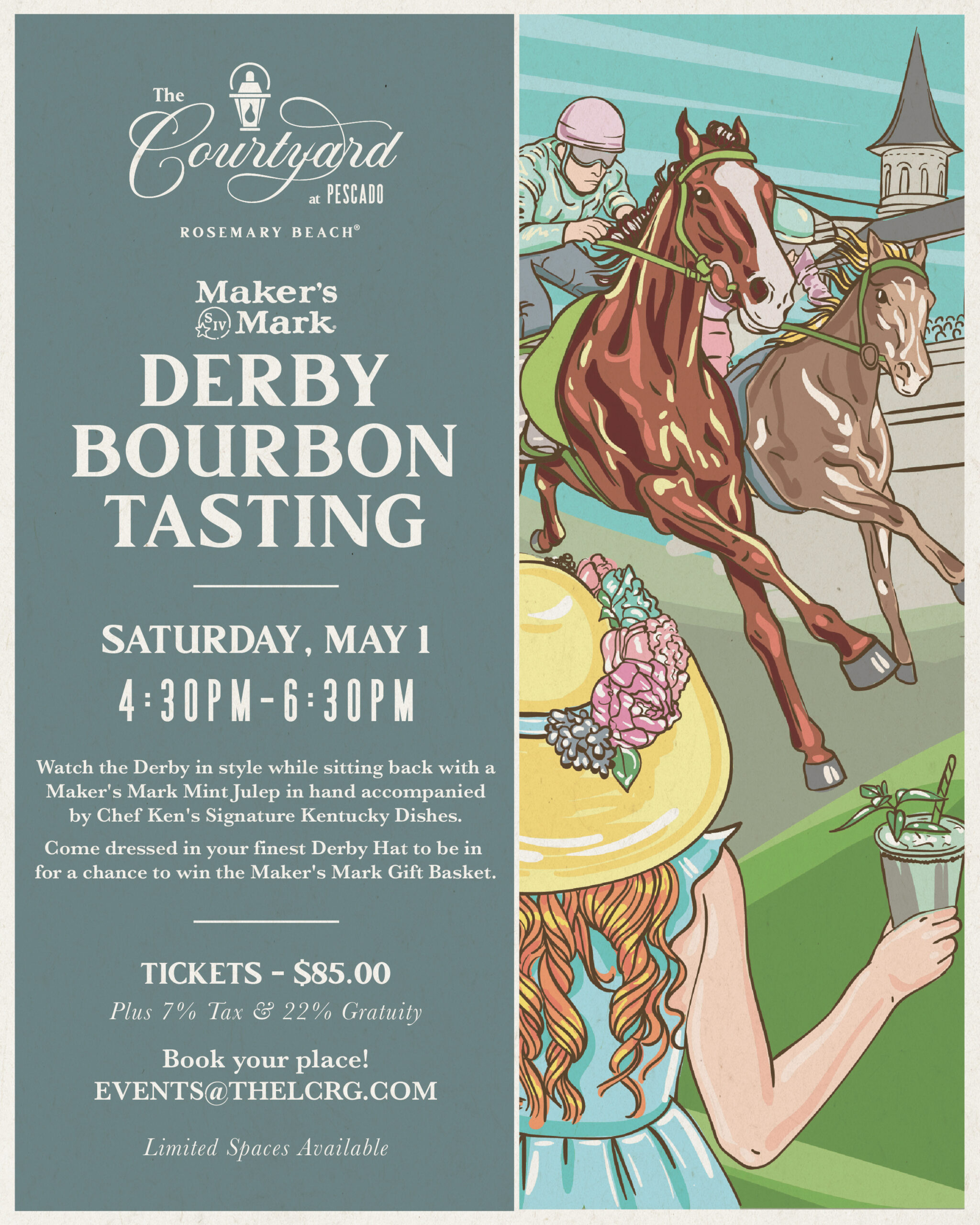 Derby Bourbon Tasting at The Courtyard at Pescado