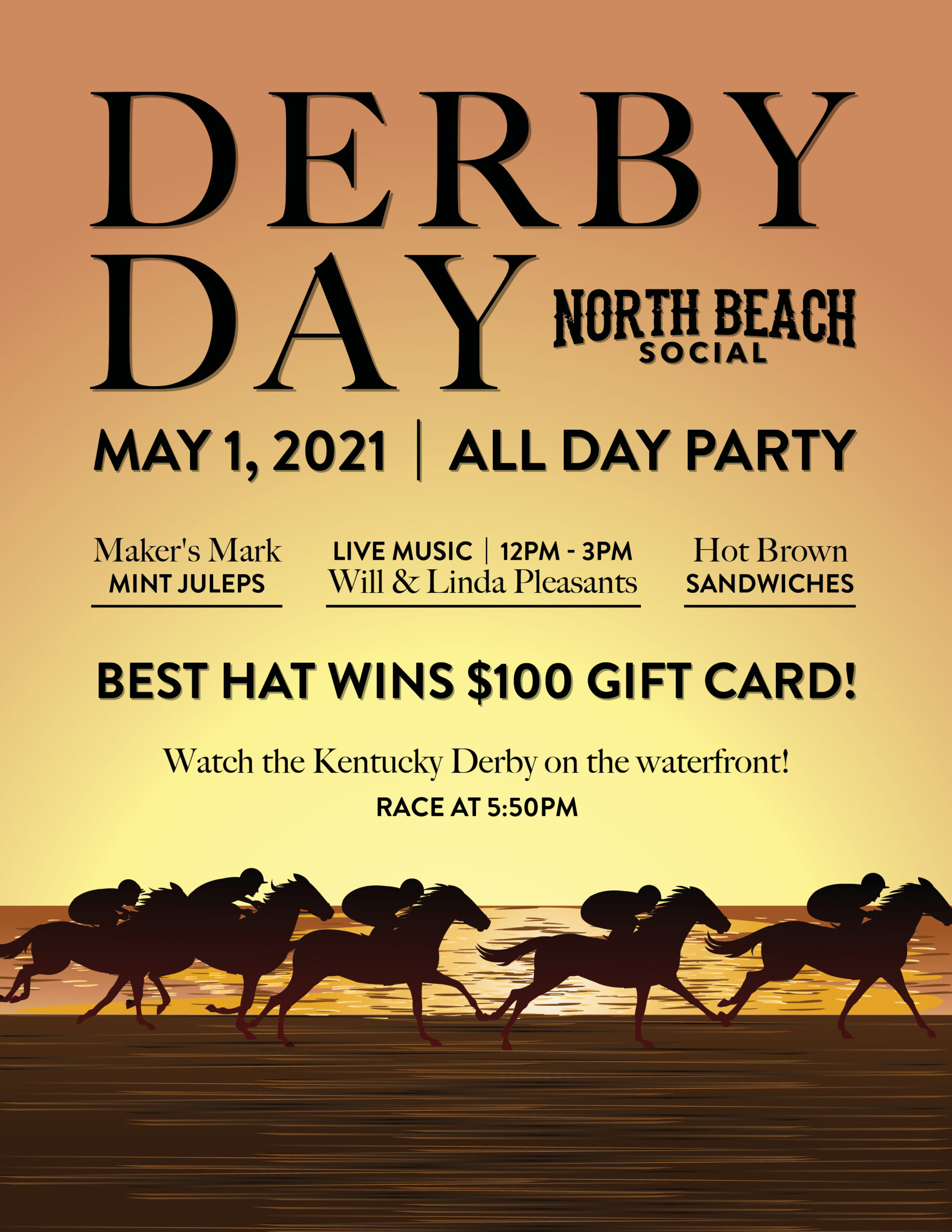 North Beach Social Hosts a Derby Party on the Waterfront