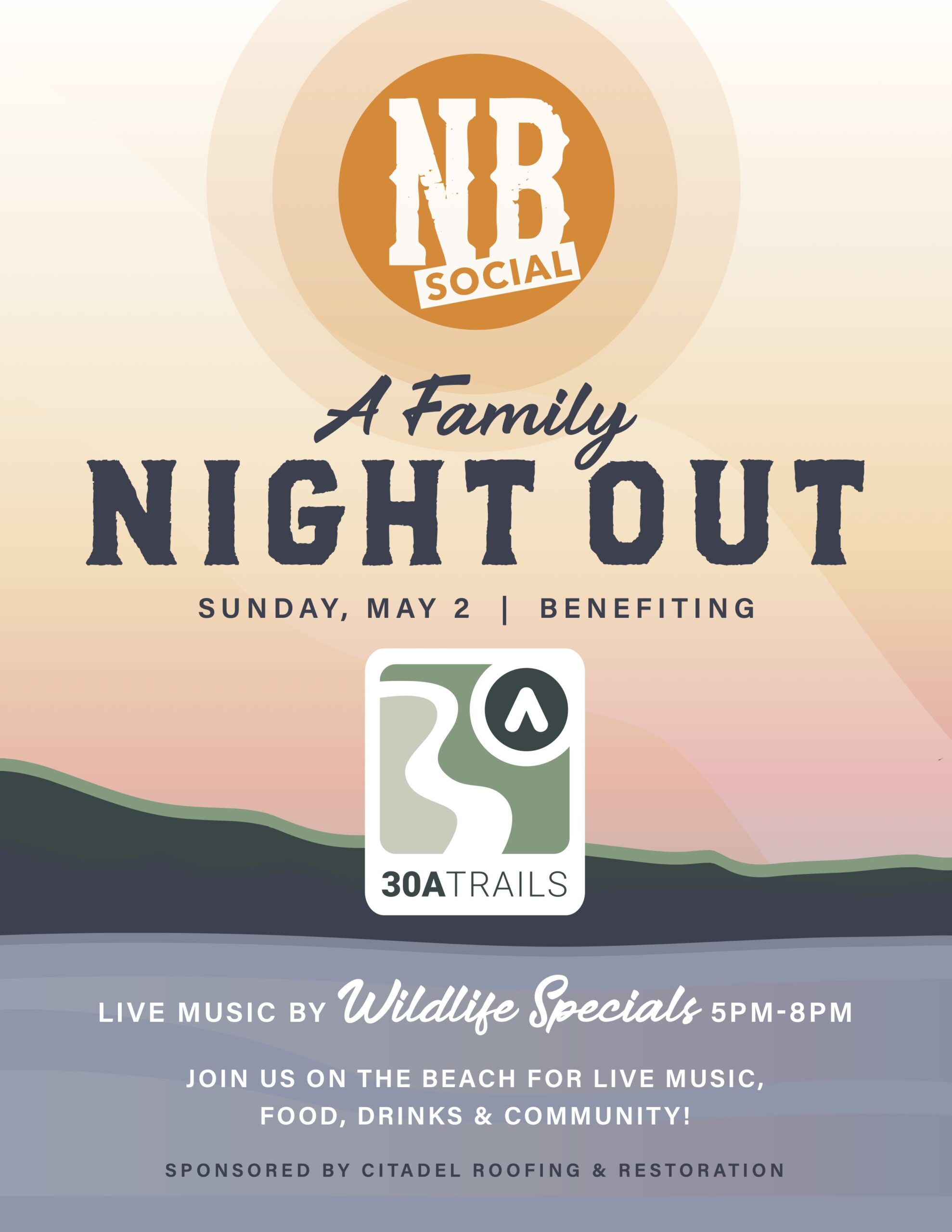 North Beach Social Hosts 'A Family Night Out' Benefitting 30A Trails