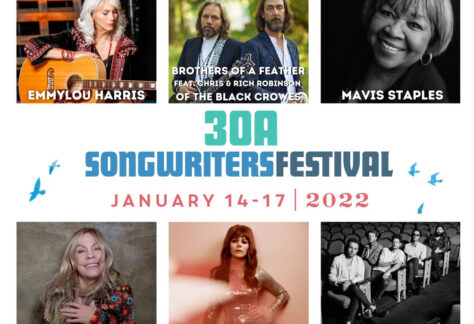 30a songwriters festival 2022 BROTHERS OF A FEATHER feat. CHRIS & RICH ROBINSON OF THE BLACK CROWES, DAWES, MAVIS STAPLES, JENNY LEWIS, EMMYLOU HARRIS, and RICKIE LEE JONES