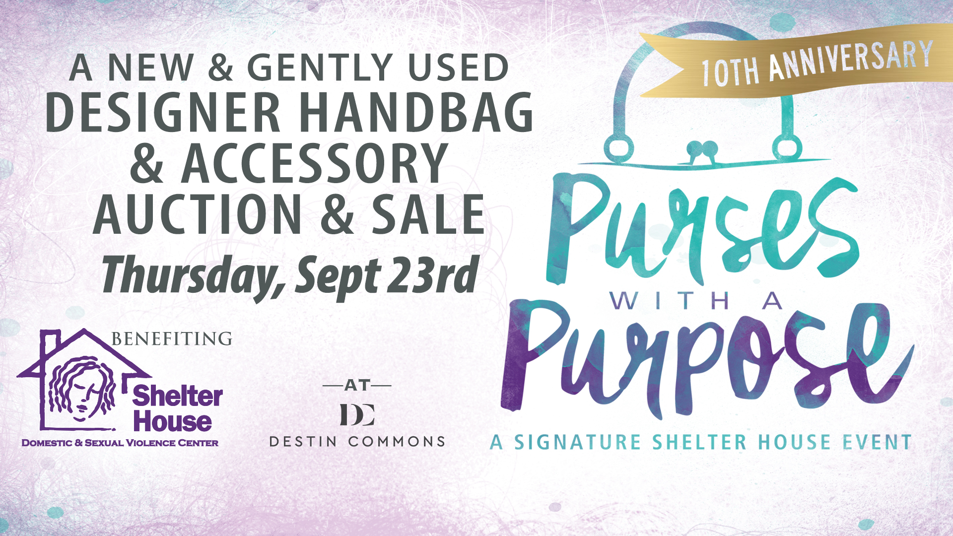 Tickets now on sale for Shelter House's Purses with a Purpose Shelter House