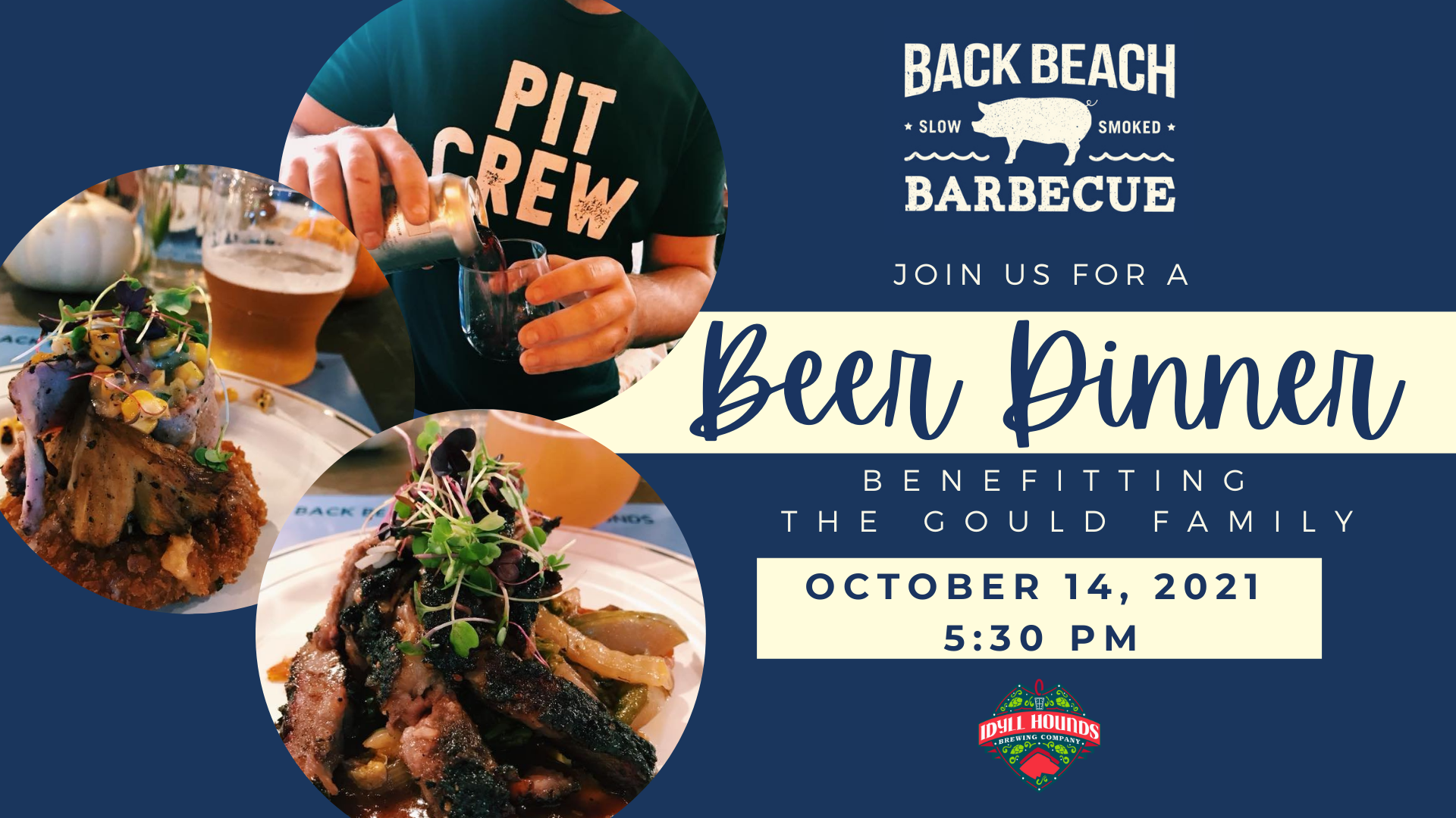 Back Beach Barbecue and Idyll Hounds Brewing Company to Host Beer Dinner Benefiting Local Family