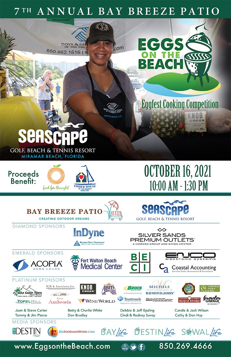 Eggs On the Beach Cooking Competition Returns to Seascape Resort, October 16