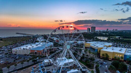 Pier Park-Sky Wheel at Sunset
