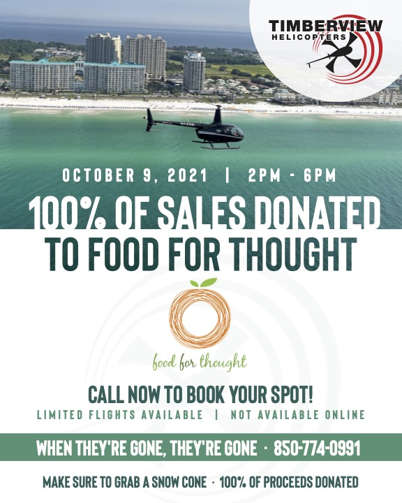 Timberview Helicopters to Raise Money for Food for Thought Outreach