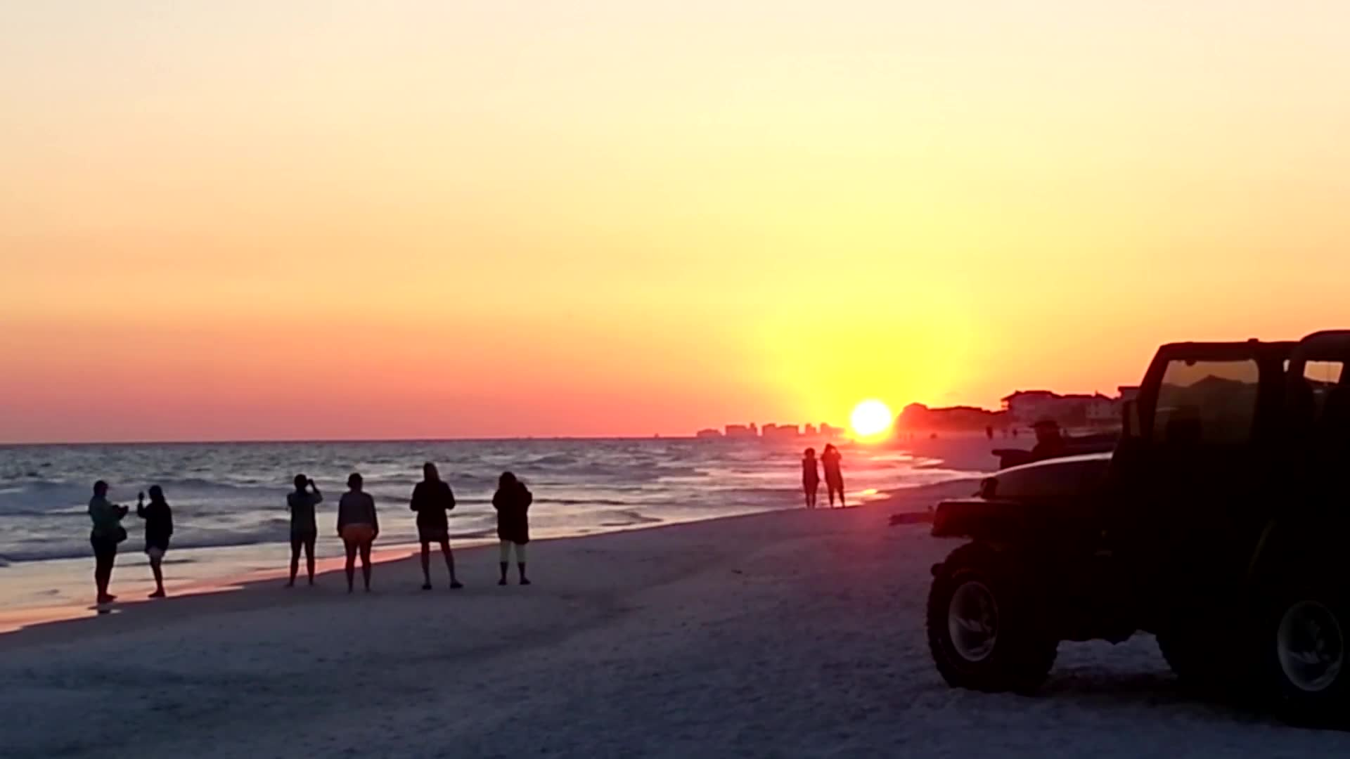 Time Lapse Sunset and Moon Rise on 30a Grayton Beach