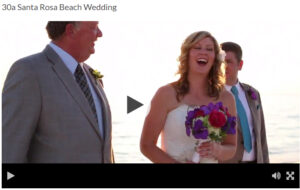 30a Santa Rosa Beach Wedding Amazing !