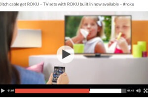 TV sets with ROKU built in now available –  #roku